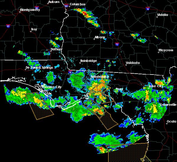 Radar Image for Severe Thunderstorms near St. Marks, FL at 7/24/2015 7:29 PM EDT