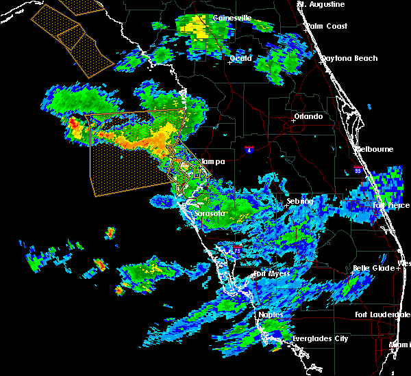 Radar Image for Severe Thunderstorms near Tampa, FL at 7/24/2015 7:29 PM EDT
