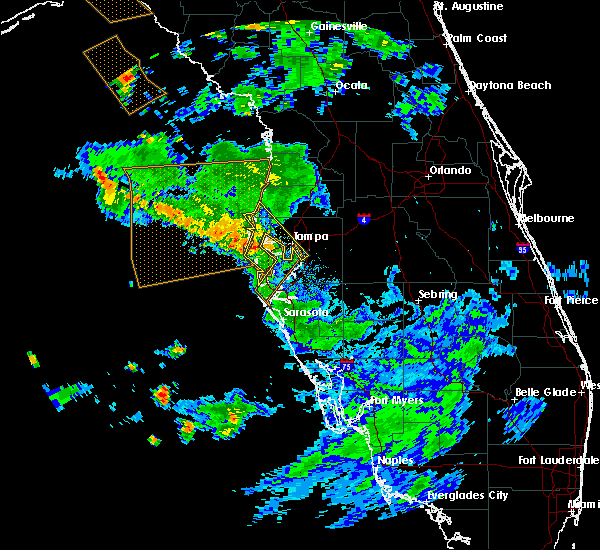 Radar Image for Severe Thunderstorms near Tampa, FL at 7/24/2015 7:53 PM EDT