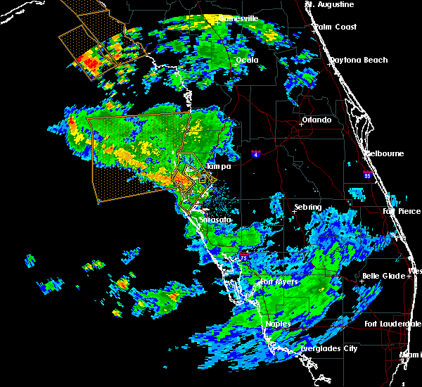 Radar Image for Severe Thunderstorms near Tampa, FL at 7/24/2015 8:12 PM EDT