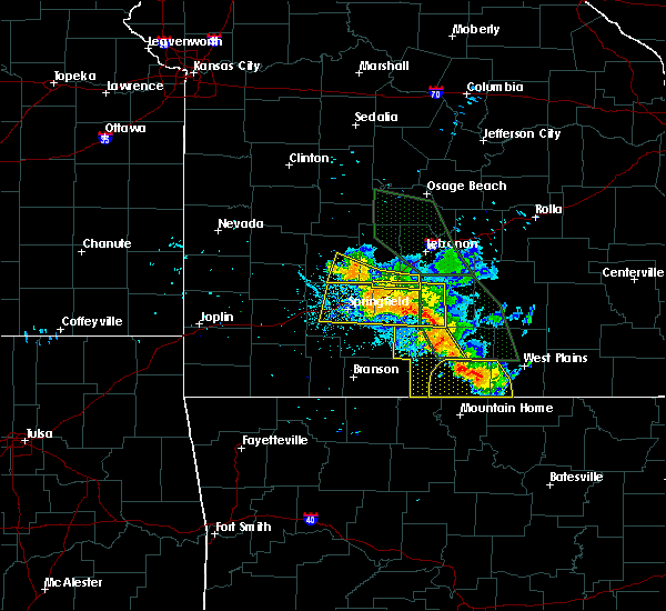 Radar Image for Severe Thunderstorms near Ozark, MO at 7/24/2015 8:45 PM CDT