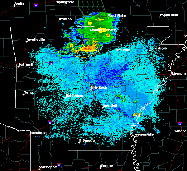 Radar Image for Severe Thunderstorms near Marshall, AR at 7/24/2015 11:09 PM CDT