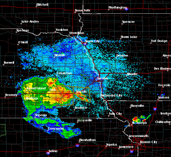Radar Image for Severe Thunderstorms near Hallam, NE at 7/25/2015 12:12 AM CDT