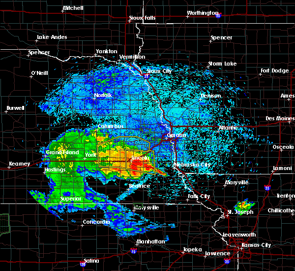 Radar Image for Severe Thunderstorms near Wann, NE at 7/25/2015 12:35 AM CDT