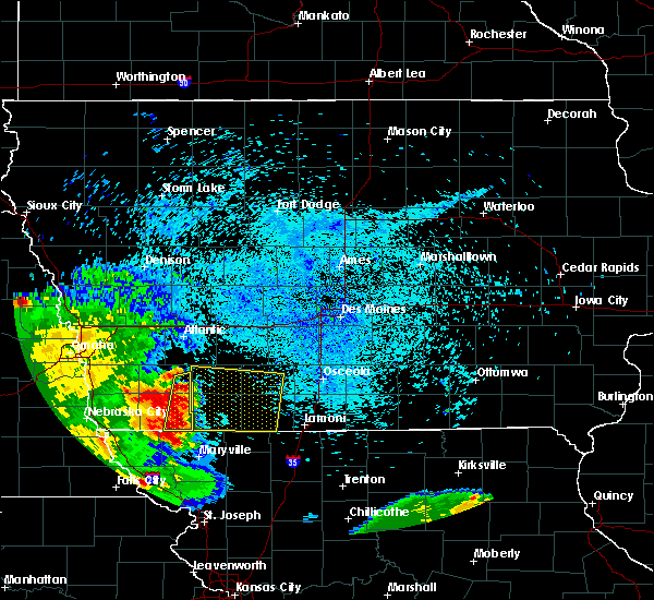 Radar Image for Severe Thunderstorms near Cromwell, IA at 7/25/2015 2:33 AM CDT