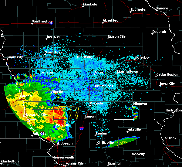 Radar Image for Severe Thunderstorms near Nodaway, IA at 7/25/2015 3:00 AM CDT