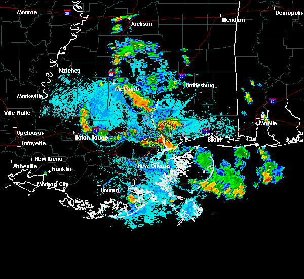 Radar Image for Severe Thunderstorms near Picayune, MS at 7/25/2015 4:49 PM CDT