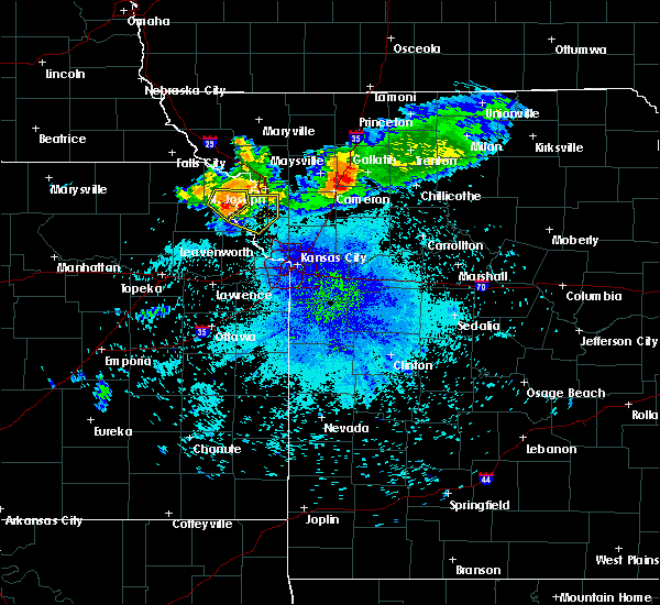 Radar Image for Severe Thunderstorms near De Kalb, MO at 7/25/2015 9:42 PM CDT