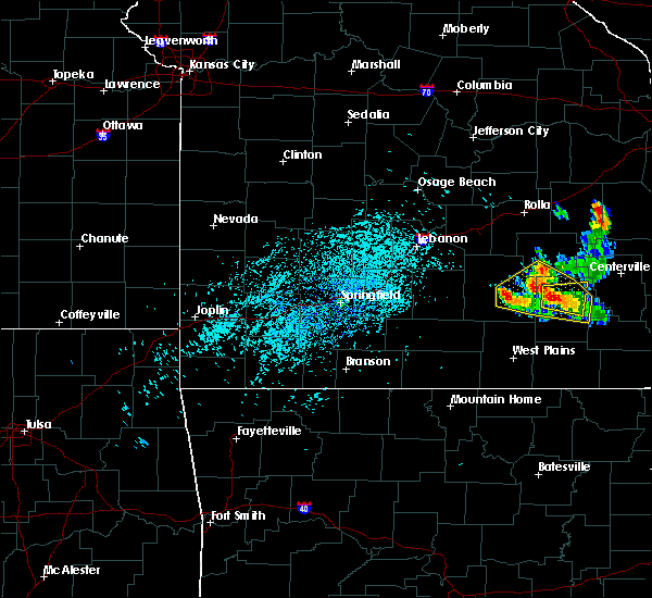 Radar Image for Severe Thunderstorms near Eminence, MO at 7/26/2015 3:32 PM CDT