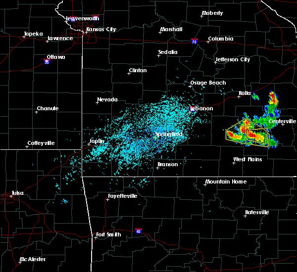 Radar Image for Severe Thunderstorms near Raymondville, MO at 7/26/2015 3:32 PM CDT