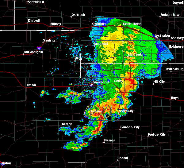Radar Image for Severe Thunderstorms near Marienthal, KS at 7/26/2015 9:15 PM CDT