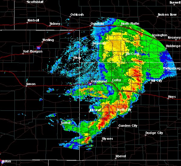 Radar Image for Severe Thunderstorms near Marienthal, KS at 7/26/2015 9:43 PM CDT