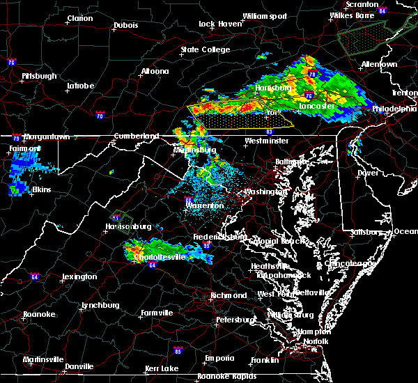 Radar Image for Severe Thunderstorms near Dover, PA at 7/27/2015 12:05 AM EDT