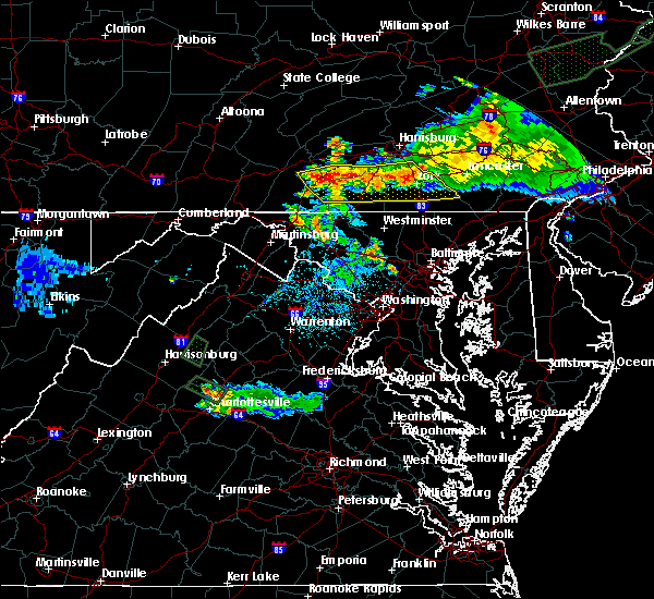 Radar Image for Severe Thunderstorms near Yorkana, PA at 7/27/2015 12:33 AM EDT