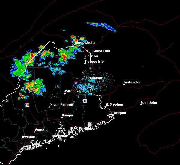 Radar Image for Severe Thunderstorms near Eagle Lake, ME at 7/27/2015 4:57 PM EDT