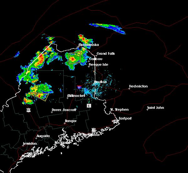 Radar Image for Severe Thunderstorms near Eagle Lake, ME at 7/27/2015 5:23 PM EDT