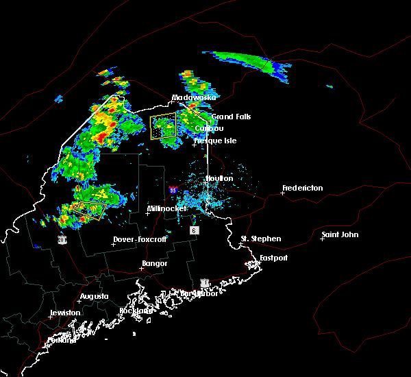 Radar Image for Severe Thunderstorms near Eagle Lake, ME at 7/27/2015 5:42 PM EDT