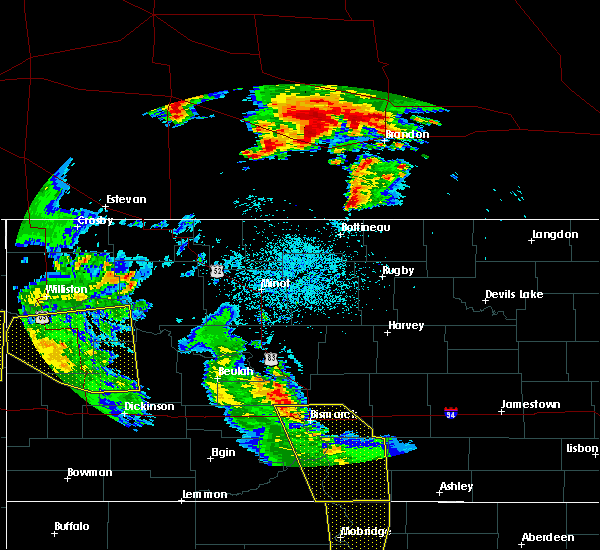 Radar Image for Severe Thunderstorms near Manning, ND at 7/27/2015 10:06 PM MDT