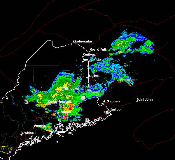 Radar Image for Severe Thunderstorms near Orono, ME at 7/28/2015 5:04 AM EDT
