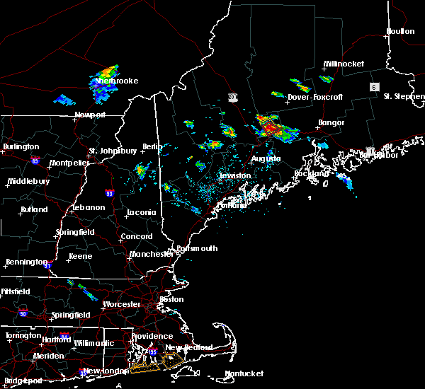 Radar Image for Severe Thunderstorms near Hartland, ME at 7/28/2015 5:43 PM EDT