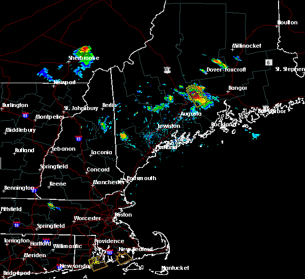 Radar Image for Severe Thunderstorms near Hartland, ME at 7/28/2015 5:58 PM EDT