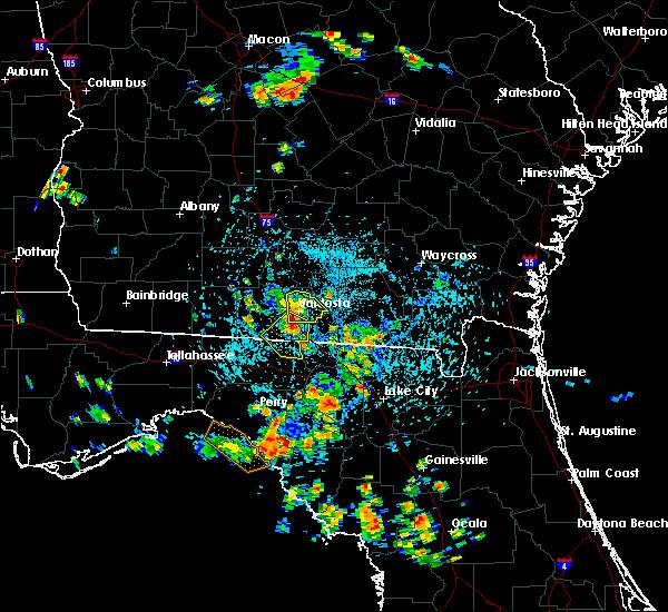 Radar Image for Severe Thunderstorms near Valdosta, GA at 7/29/2015 3:14 PM EDT