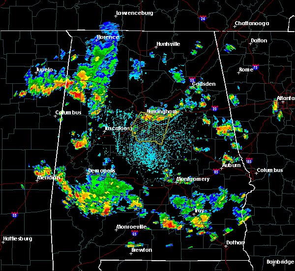 Radar Image for Severe Thunderstorms near Montevallo, AL at 7/29/2015 2:40 PM CDT