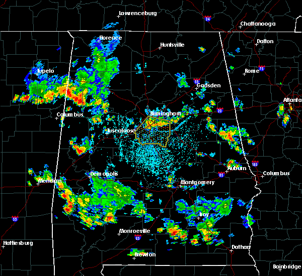 Radar Image for Severe Thunderstorms near Birmingham, AL at 7/29/2015 2:53 PM CDT