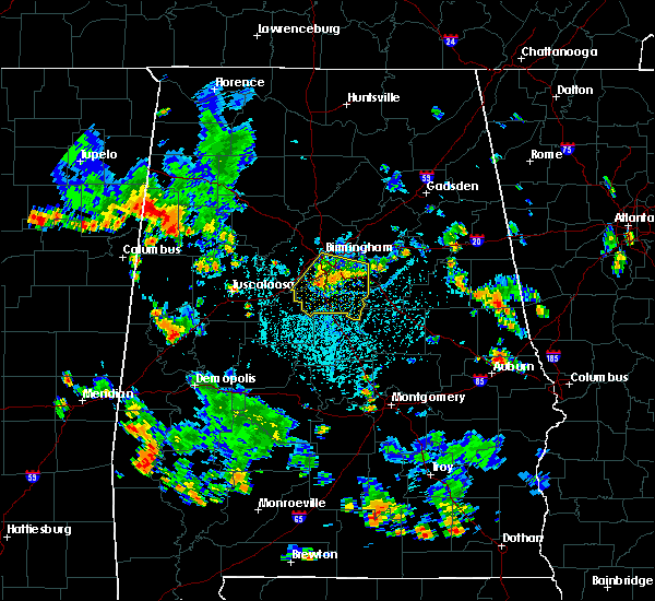 Radar Image for Severe Thunderstorms near Birmingham, AL at 7/29/2015 3:03 PM CDT