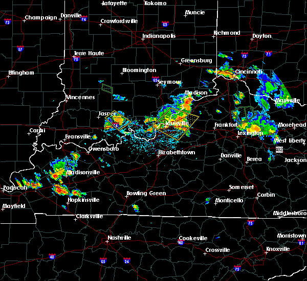 Radar Image for Severe Thunderstorms near Utica, KY at 7/29/2015 6:15 PM EDT