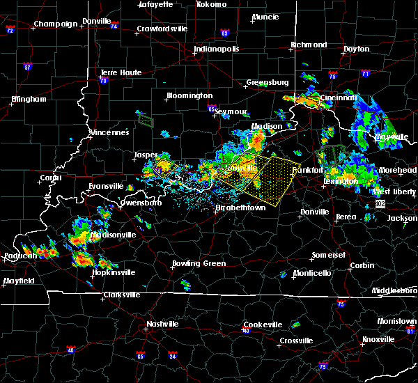 Radar Image for Severe Thunderstorms near Willisburg, KY at 7/29/2015 6:22 PM EDT