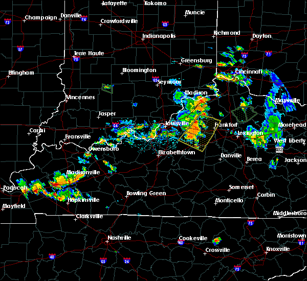 Radar Image for Severe Thunderstorms near Frankfort, KY at 7/29/2015 6:49 PM EDT
