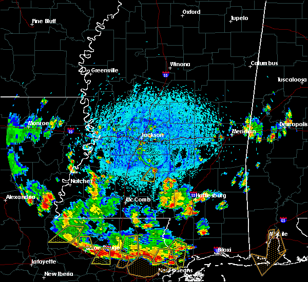 Radar Image for Severe Thunderstorms near New Hebron, MS at 7/30/2015 4:00 PM CDT