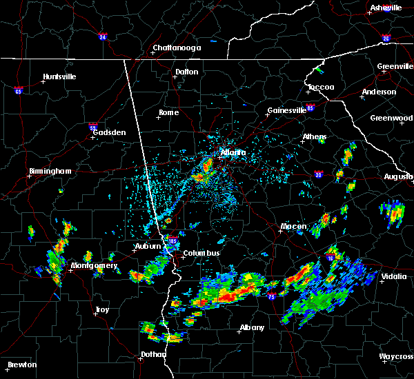 Radar Image for Severe Thunderstorms near Fairburn, GA at 7/30/2015 5:50 PM EDT