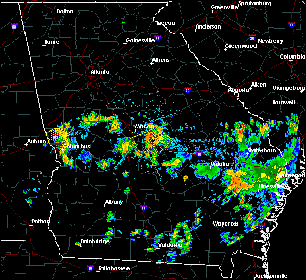 Radar Image for Severe Thunderstorms near Robins AFB, GA at 7/31/2015 4:31 PM EDT