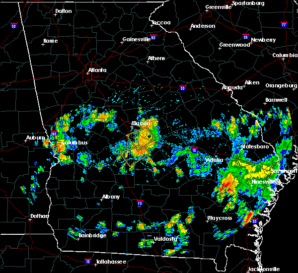 Radar Image for Severe Thunderstorms near Cochran, GA at 7/31/2015 4:59 PM EDT