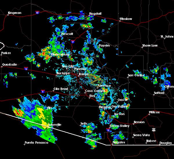 Radar Image for Severe Thunderstorms near Florence, AZ at 7/31/2015 2:23 PM MST