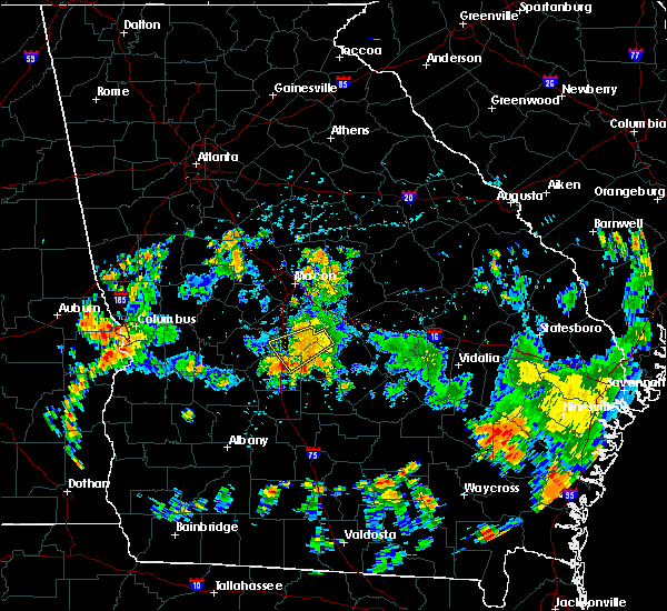 Radar Image for Severe Thunderstorms near Cochran, GA at 7/31/2015 5:28 PM EDT