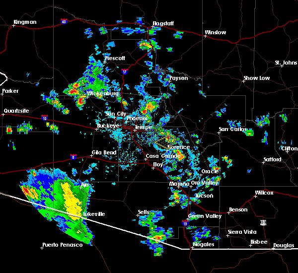 Radar Image for Severe Thunderstorms near Florence, AZ at 7/31/2015 2:38 PM MST