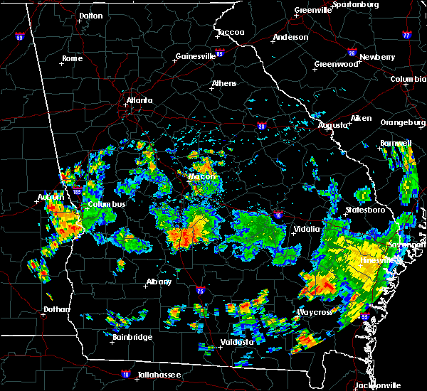 Radar Image for Severe Thunderstorms near Vienna, GA at 7/31/2015 5:48 PM EDT