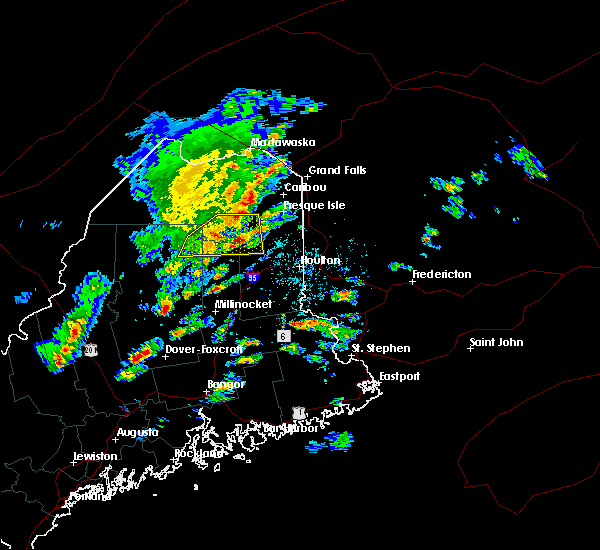 Radar Image for Severe Thunderstorms near Guilford, ME at 8/1/2015 1:15 PM EDT