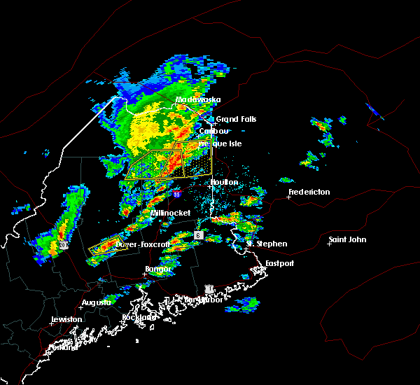 Radar Image for Severe Thunderstorms near Mars Hill, ME at 8/1/2015 1:29 PM EDT