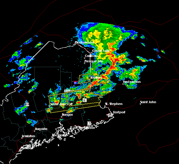 Radar Image for Severe Thunderstorms near Milo, ME at 8/1/2015 3:06 PM EDT