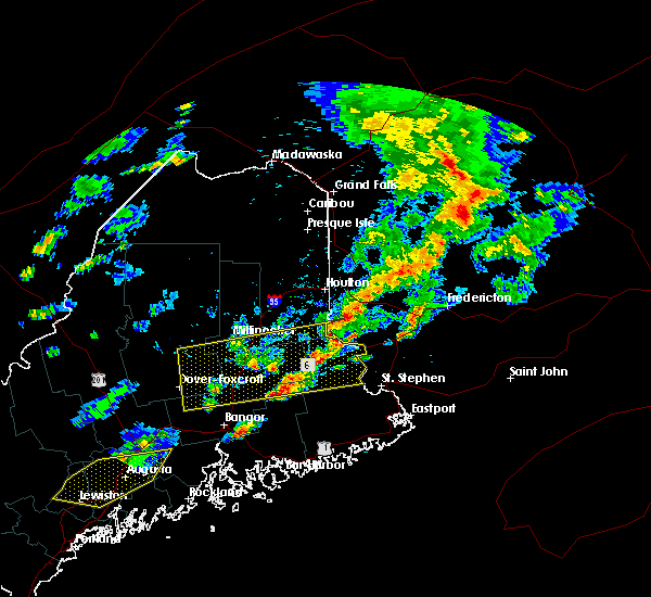 Radar Image for Severe Thunderstorms near Milo, ME at 8/1/2015 3:35 PM EDT