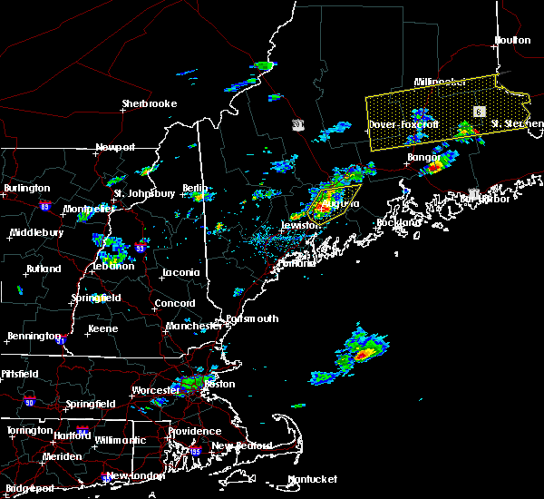 Radar Image for Severe Thunderstorms near Hallowell, ME at 8/1/2015 3:51 PM EDT