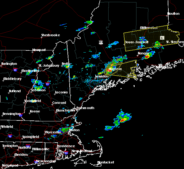 Radar Image for Severe Thunderstorms near Hallowell, ME at 8/1/2015 3:54 PM EDT