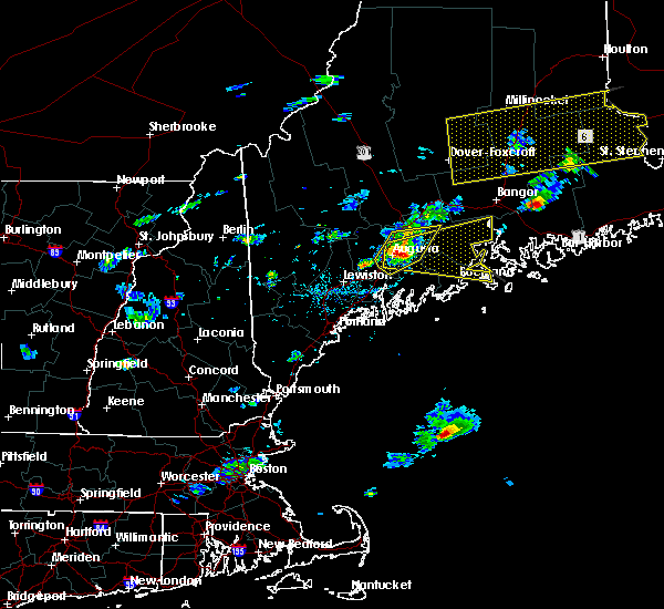 Radar Image for Severe Thunderstorms near Hallowell, ME at 8/1/2015 3:58 PM EDT