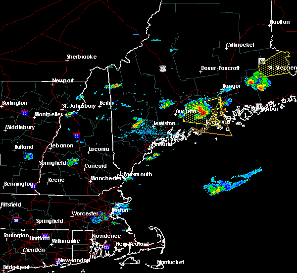 Radar Image for Severe Thunderstorms near Rockland, ME at 8/1/2015 4:30 PM EDT