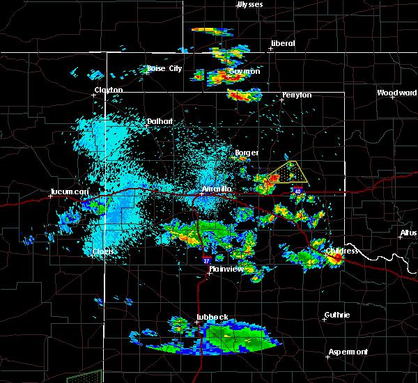 Radar Image for Severe Thunderstorms near Lefors, TX at 8/2/2015 1:07 AM CDT