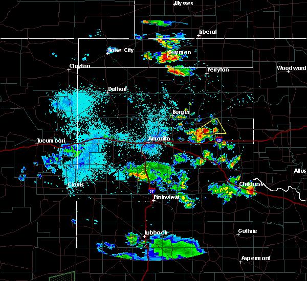 Radar Image for Severe Thunderstorms near Lefors, TX at 8/2/2015 1:19 AM CDT